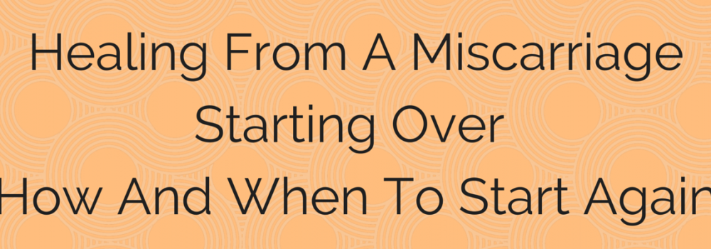 Starting Over, How and When to Try Again